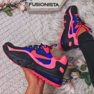 NWT 🍭 Cute Nike React 270 Black Pink 5.5Y/7W